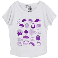 View Size Chart What's cuter than one hedgehog?... 20 of them! Express your love for these spiney yet loveable little mammals with this comfy top featuring an adorable design by Julie Kuo. This design
