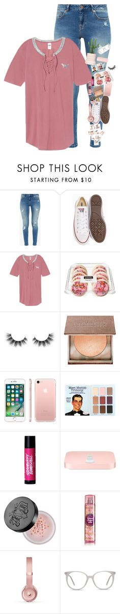 """""""When everyone is talking about crushes and your over here like """" by supremegrier ❤ liked on Polyvore featuring Ted Baker, Converse, Victoria's Secret, Unicorn Lashes, Urban Decay, Apple, Kat Von D, Beats by Dr. Dre and Ace"""