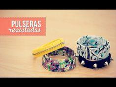 Haz brazaletes con materiales reciclados! - YouTube