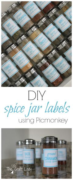 DIY Spice Jar Labels using Picmonkey - FREE printable labels and tutorial
