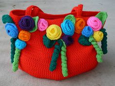 Ravelry: crochetbug13's Rose Garden Tote redux