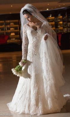 Veja opções de vestidos de noiva com mangas longas - Casamento - UOL Mulher#fotoNav=10
