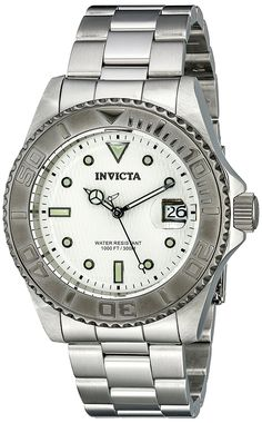 Invicta Men's 12838 Pro Diver Automatic Silver Dial Watch * Want additional info for the watch? Click on the image.