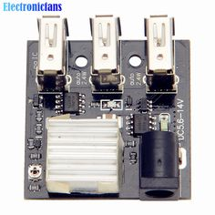 DC-DC 9V/12V To 5V 8A Step Down Power Charger Bank Board 3 USB Mini Charging Module Step-Down Buck Converter For Arduino //Price: $3.14//     #shopping