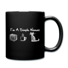 Mugs, Simple, Tableware, Women, Cat T Shirt, Ideas For Christmas, Good Mood, Tumblers, Products