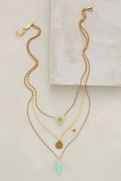 Anthropologie TESORO LAYERED NECKLACE #anthrofave