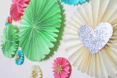 How To Make Paper Fan Decorations!