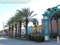 Beach Street In Daytona Beach. Fun place to stroll. Unique shops and a chocolate factory with a free tour.