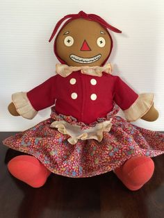 "Vintage Georgene Beloved Belindy 15"" Raggedy Ann Mammy 1940's Boxy from heathscollectables on Ruby Lane"