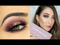 Cranberry Halo Smokey Eye | Anastasia Beverly Hills Modern Renaissance Palette - YouTube