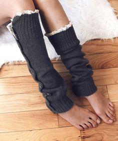 Look at this #zulilyfind! Do Everything In Love Gray Button-Up Leg Warmers by Do Everything In Love #zulilyfinds