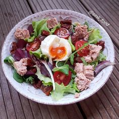 Tonhal saláta minden földi jóval Minden, Cobb Salad, Food And Drink, Photo And Video, Instagram