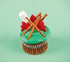 Smokey Bear birthday cupcake?