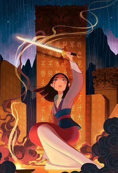 51 Ideas Tattoo For Women Disney Mulan Disney Pixar, Arte Disney, Disney Films, Disney Fan Art, Disney Animation, Disney And Dreamworks, Disney Love, Disney Magic, Disney Characters