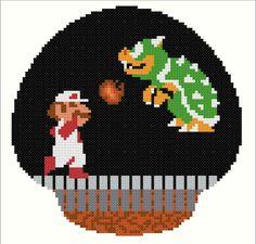 Mario Bowser Battle DIGITAL Cross Stitch by CrossingCuriosity