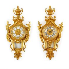 Louis XVI style clock and barometer set by Lerolle Frères