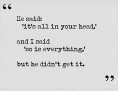 Everything in my head