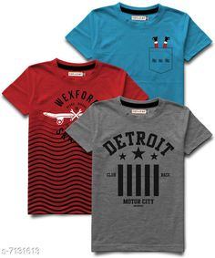 Tshirts & Polos Hellcat stylish Boys Round Neck Tshirts Pack of 3 Fabric: Cotton Blend Sleeve Length: Short Sleeves Pattern: Printed Multipack: Pack of 3 Sizes:  5-6 Years (Chest Size: 13 in, Length Size: 19 in)  15-16 Years (Chest Size: 18 in, Length Size: 26.5 in)  13-14 Years (Chest Size: 17 in, Length Size: 25 in)  1-2 Years (Chest Size: 11 in, Length Size: 17 in)  11-12 Years (Chest Size: 16 in, Length Size: 23 in)  3-4 Years (Chest Size: 12 in, Length Size: 18 in)  9-10 Years (Chest Size: 15 in, Length Size: 21.5 in)  7-8 Years (Chest Size: 14 in, Length Size: 20.5 in) Sizes Available: 3-4 Years, 5-6 Years, 7-8 Years, 9-10 Years, 11-12 Years, 13-14 Years, 15-16 Years, 1-2 Years *Proof of Safe Delivery! Click to know on Safety Standards of Delivery Partners- https://ltl.sh/y_nZrAV3  Catalog Rating: ★4.2 (9813)  Catalog Name: Tinkle Comfy Boys Tshirts CatalogID_1138542 C59-SC1173 Code: 265-7131613-