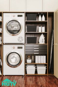 From Appliances to Fabrics: How Often Should You Clean These Things in Your Home? Small Laundry Rooms, Laundry Closet, Laundry Room Organization, Laundry Room Design, Laundry Decor, Küchen Design, House Design, Laundry Room Inspiration, Home Reno