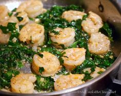 Saute of Shrimp, Kale, and Garlic  / She Cooks, He Cleans