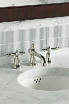 Per Se Widespread Basin Faucet Set, Tiger Eye Lever Handles from ...