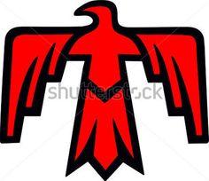 サンダーバード。ネイティブアメリカンの神のシンボル。神のおしゃれイラスト