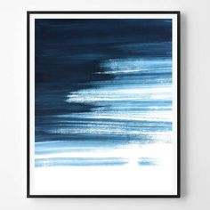 Abstract Print, Navy print, Watercolor print, Minimal print, Minimalist, Sea Ocean, Landscape abstract, Landcape, Scandinavian Printable Art