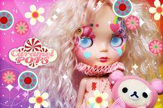 Custom Blythe - CaramelPOPS Pixie Stix by Caramelaw a.k.a Sheena Aw, via Behance