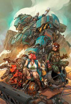 ArtStation - Welcome to the crew, John Gabriel Santos Character Concept, Character Art, Concept Art, Illustrations, Illustration Art, Cyberpunk Art, Cg Art, Art Station, Traditional Paintings