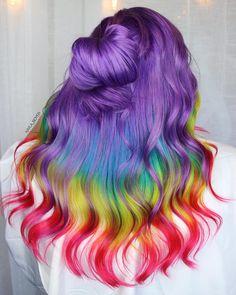 Best hair color purple silver haircolor Ideas - Hairstyles For All Bright Hair Colors, Hair Color Purple, Cool Hair Color, Lilac Hair, Hair Colours, Pulp Riot Hair Color, Beautiful Hair Color, Unicorn Hair, Dye My Hair