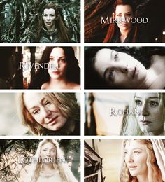 The Women of Lord of the Rings + The Hobbit