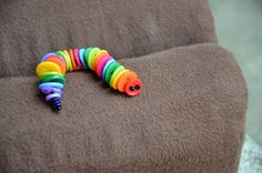 Button Caterpillars - fun for inside Easter eggs?