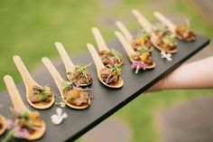 Sugar Beach Events island appetizers - Bliss Wedding Design & Spectacular Events -- Anna Kim Photography