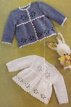 Vintage crochet pattern pretty matinee coat by TheVintageWorkbox Vestidos Bebe Crochet, Crochet Bebe, Crochet Girls, Crochet For Kids, Knit Crochet, Crochet Baby Sweaters, Crochet Baby Clothes, Baby Knitting, Coat Patterns