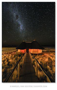 Sleeping under the stars.