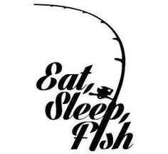 Details about Eat Sleep Fish sticker hooks crankbait pole bass salmon fishing kayak new decal. Fishing Signs, Fishing Quotes, Fishing Humor, Fishing Stuff, Kayak Stickers, Kayak Decals, Shilouette Cameo, Fish Logo, Salmon Fishing