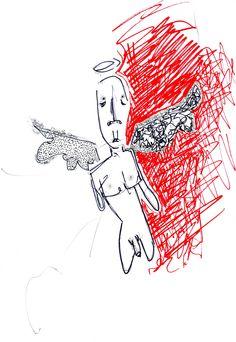 lucas repetto — Desenho, Sem título, Papel A4 (75g/m² 210mm x 297mm), Nanquim, Caneta hidrocor.