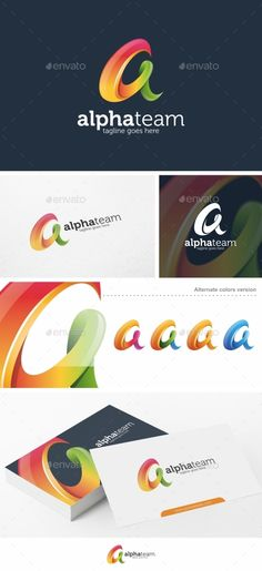 alpha team letter a logo template vector eps wave trading available