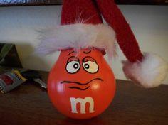 Orange M Handpainted Lightbulb