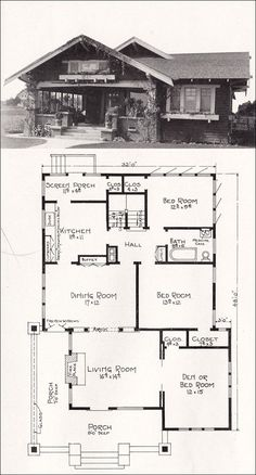 28 California Craftsman House Plans California Craftsman House Plans - 1912 California Craftsman Bungalow Los Angeles Investment c 1918 Representative California Homes by E W Stillwell B. Bungalow Haus Design, Bungalow Homes, Craftsman Style Homes, Craftsman Bungalows, Craftsman House Plans, House Design, Craftsman Kitchen, The Plan, How To Plan