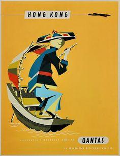 Qantas Hong Kong Poster