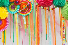 colorful Photo Booth back drop | Wedding & Party Ideas | 100 Layer Cake
