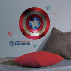 Display your love for Captain America on the wall with these officially Giant Shield Wall Decals!