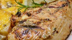 Fresh rosemary and lemon juice combine with fantastic results for these grilled rosemary chicken breasts.