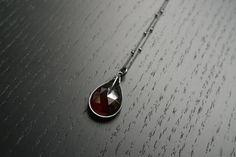 The Eyrie V Necklace  Garnet by charlotteburkhart on Etsy