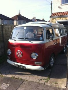 Ruby VW Bus looks just like my FiLaws old bus i see around town...keep trying to follow the guy :) want it back :)
