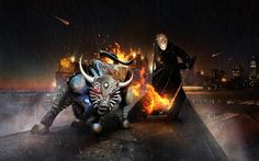 Burning Bull HD Wallpaper | 999HDWallpaper