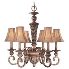 Six-Light Chandelier | 1556-477 | Destination Lighting