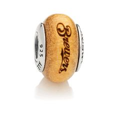 PANDORA | Charm Pau Amarelo Wood, Milwaukee Brewers