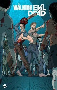 The Line it is Drawn #313 – THE LINE IT IS DRAWN PRESENTS TELEVISION SUPERHERO TEAM-UPS  Ash vs Evil Dead crosses over with Walking Dead
